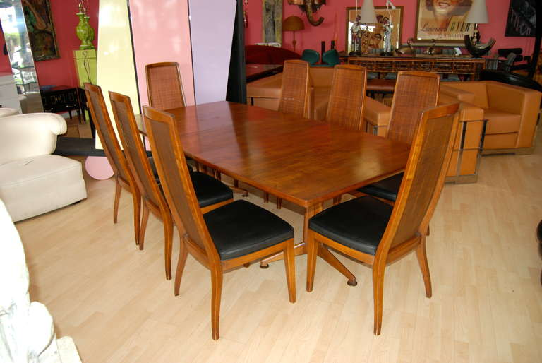John Widdicomb Dining Room Table And Eight Chairs